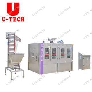 2019 Automatic Bird Nest Beverage Filling Capping Machine Glass Bottle Packing